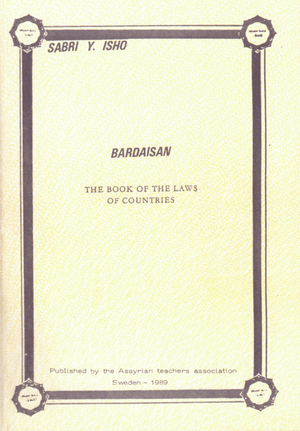 Bardaisan - the book of the laws of countries